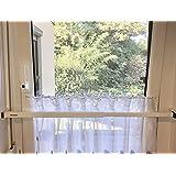 ERABOS® - Einbruchschutz | Sicherungsstange für Fenster/Türen | MIT KIPPSTELLUNGS-SCHUTZ | Laibungsbreite 57-100cm | MASSIVE 2MM STAHLAUSFÜHRUNG (S, weiß)