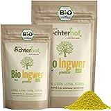 Bio Ingwerpulver (500g)   Ingwer gemahlen   Ingwerwurzel gemahlen perfekt fuer Ingwertee Ingwertinktur Ingwerwasser oder zum Kochen