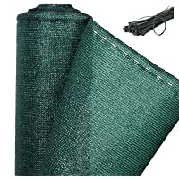 WOLTU Balcony Privacy Screen Windbreak Net Fence Sunshade Weatherproof HDPE Privacy Protector Balcony Cover with Cable Ties - 1x20m, Green, GZZ1180m4-1