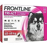 FRONTLINE TRI-ACT Chien - Anti-puces et anti-tiques pour chien - 40-60kg - 6 pipettes