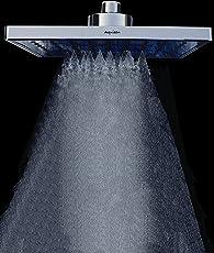 Aquieen Plastic Twister Mist and Rain Overhead Shower, 8x8-inch (Chrome)
