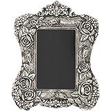 HOUZZPLUS White Metal Table Photo Frame (19 x 1 x 25 cm, Silver)