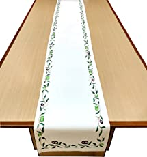 "Miyanbazaz Textiles Table Runner- 16"" x 108"" Canvas Printed Premium Table Linens for The Dining Room"