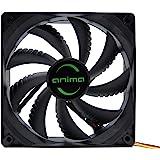 Anima AF12, Computer ventilator, milieuvriendelijk en stil, 50.000 bedrijfsuren, 12 cm, 9 messen, zwart
