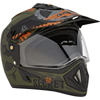 Vega Off Road D/V Secret Dull Green Black Helmet-M