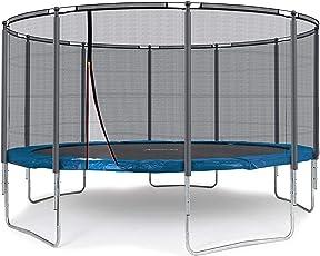 Ampel 24 Outdoor Trampoline Ø 430 cm blau oder grün mit verstärktem Netz, Belastbarkeit 160 kg, Verschiedene Ausführungen