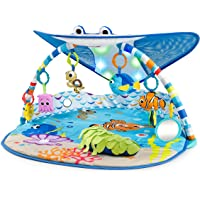 Bright Starts Disney Baby Mr. Ray Ocean Lights Activity Gym & Play Mat