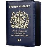 UK Passport Cover | Holders | Protector | Navy Blue | British | Wallet Brexit Travel Organiser