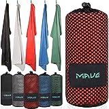 MAVE Microfaser Reisehandtuch - Schnelltrocknendes und ultraleichtes Mikrofaser Handtuch - Ideal für Deine nächste Reise an den Strand oder Backpacking Tour [in Allen Größen]
