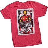 Marvel Avengers Ironman Vs. Ultron CardCamiseta Roja Para Hombre