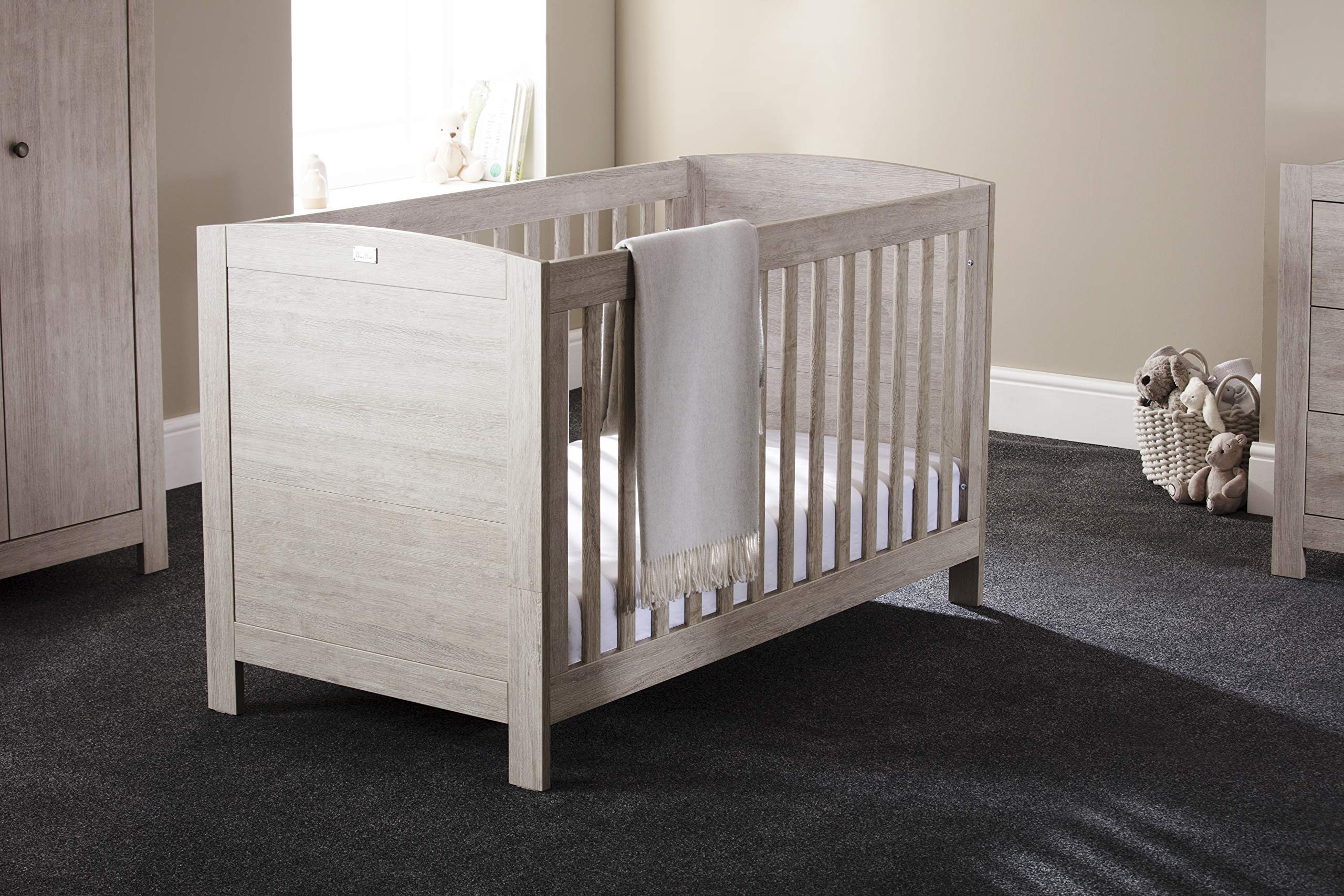 Silver Cross New England Cot Bed and Wardrobe Silver Cross 3 base height positions Suitable from birth to 4 years Converts into toddler bed 7
