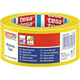 Tesa Vloermarkerings- en waarschuwingsband, 50 mm x 33 m, geel