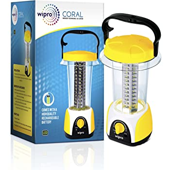 Wipro Coral Rechargeable Emergency Light (Yellow)