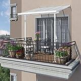 Palram - Hochwertige Aluminium Terrassenüberdachung, Balkondach, Terrassendach Sierra 232 x 210 x 283 cm (LxBxH)