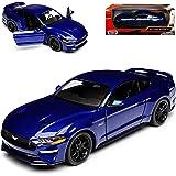 New Motormax Mtm79352bl Ford Mustang Gt 2018 Blue 1 24 Modellino Die Cast Model Spielzeug