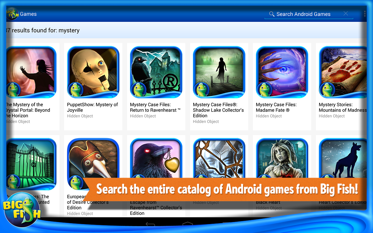 big fish games app appstore for android