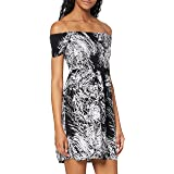 Urban Classics Ladies Smoked off Shoulder Dress Vestito Donna