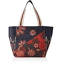 Desigual Fabric Shopping Bag, Borsa shoppering Donna, Nero, U