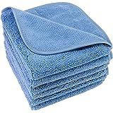 Polyte - Premium microvezel washanddoek - niet-pluizend - 6 stuks - blauw - 33 x 33 cm