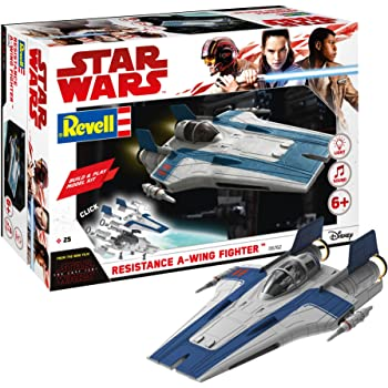 Build /& Play Red Star Wars - Neu Resistance A-Wing Fighter Revell 06759