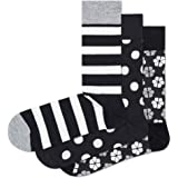 HS by Happy Socks HS 3-Pack Stripe Socks, Calcetines para Hombre