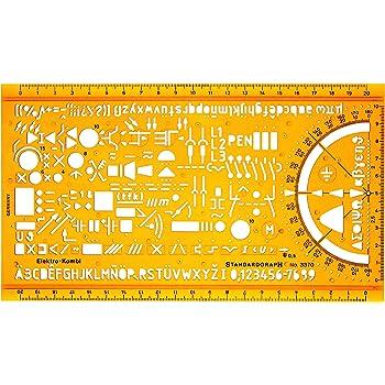 Schablone Zeichenschablone Technisches Zeichnen - Elektro Symbole ...