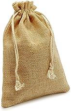 24er Set Jutesäckchen, Jutebeutel, Stoffbeutel, Natur Säckchen, Geschenksäckchen, Sack, Beutel – Marke Ganzoo