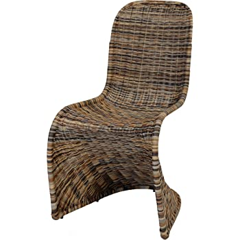 Schwingstuhl, Esszimmer-Stuhl aus Rattan, Multicolor