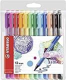 Filzschreiber - STABILO pointMax - 12er Pack - mit 12 verschiedenen Farben