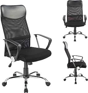 Sedia per ufficio - 341 Duhome - Poltrona da direttore Ergonomica Tessuto a maglie annodate Meccanismo Inclinabile Sedia girevole