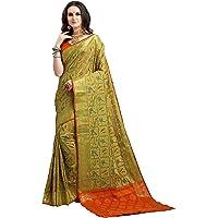 EthnicJunction Women's Art Silk Woven Saree With Blouse Piece