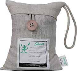 Shudh Natural Air Purifier, Deodorizer Bags equipped with superior grade Activated Charcoal and high quality fabric Filter, 100% Natural and Chemical Free