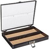 Heathrow Scientific HD15994G Boîte pour le rangement de 100 lames de microscopie doublée en liège 208 mm L x 175 mm l x 34 mm