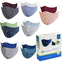 Mediweave 2 in 1 3 Layer Reversible Wave Face Mask for Kids, Reusable & Washable Mask, (Pack of 7)