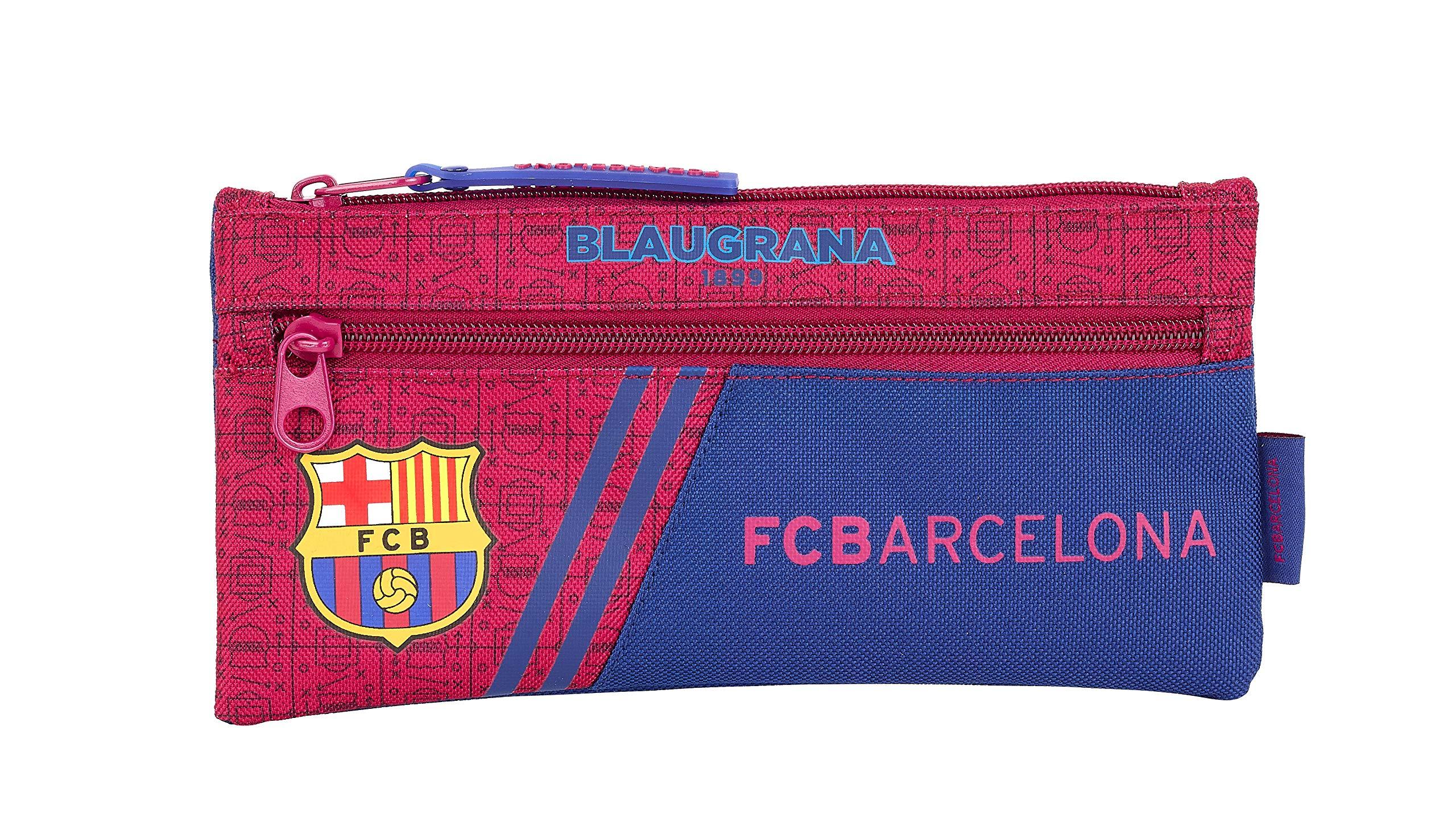FC Barcelona Corporativa Oficial Estuche Doble Cremallera Escolar 230x110mm