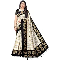 PISARA Women's Art Silk Saree With Un-stitched Blouse