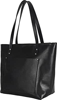 Elizo Handgefertigte Ledertasche für Damen – Leder-Handtasche für Frauen – Metallnieten