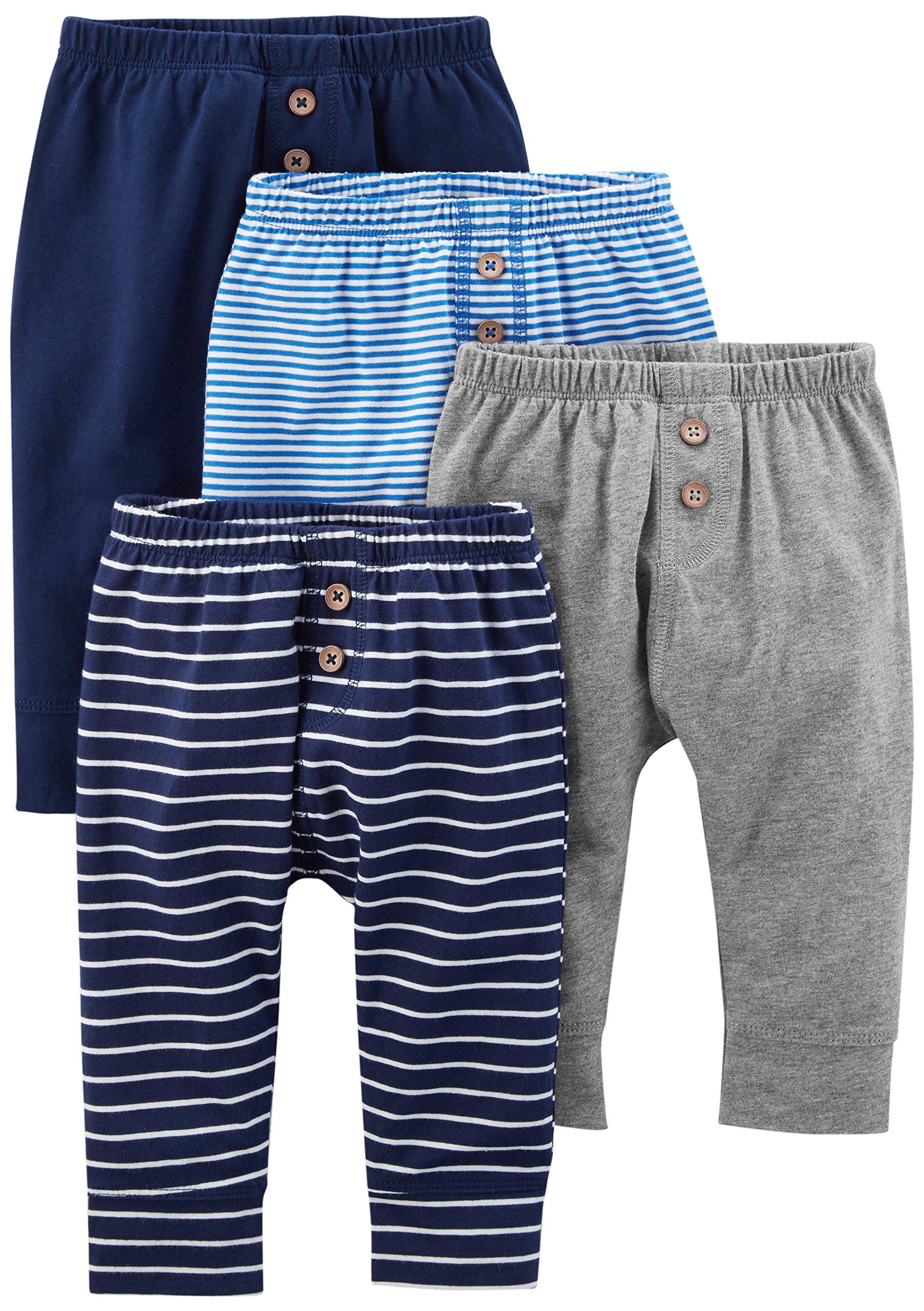 Simple Joys by Carter's pantalón para bebé, paquete de 4 1