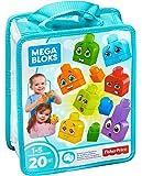 Mega Bloks Sac de Blocs Emotions, briques et jeu de construction, 20 pièces, jouet pour bébé et enfant de 1 à 5 ans, FLT38