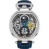 ساعة بمينا لون اسود وسوار من الجلد للرجال من ستيرلينج اوريجنال - 889.01