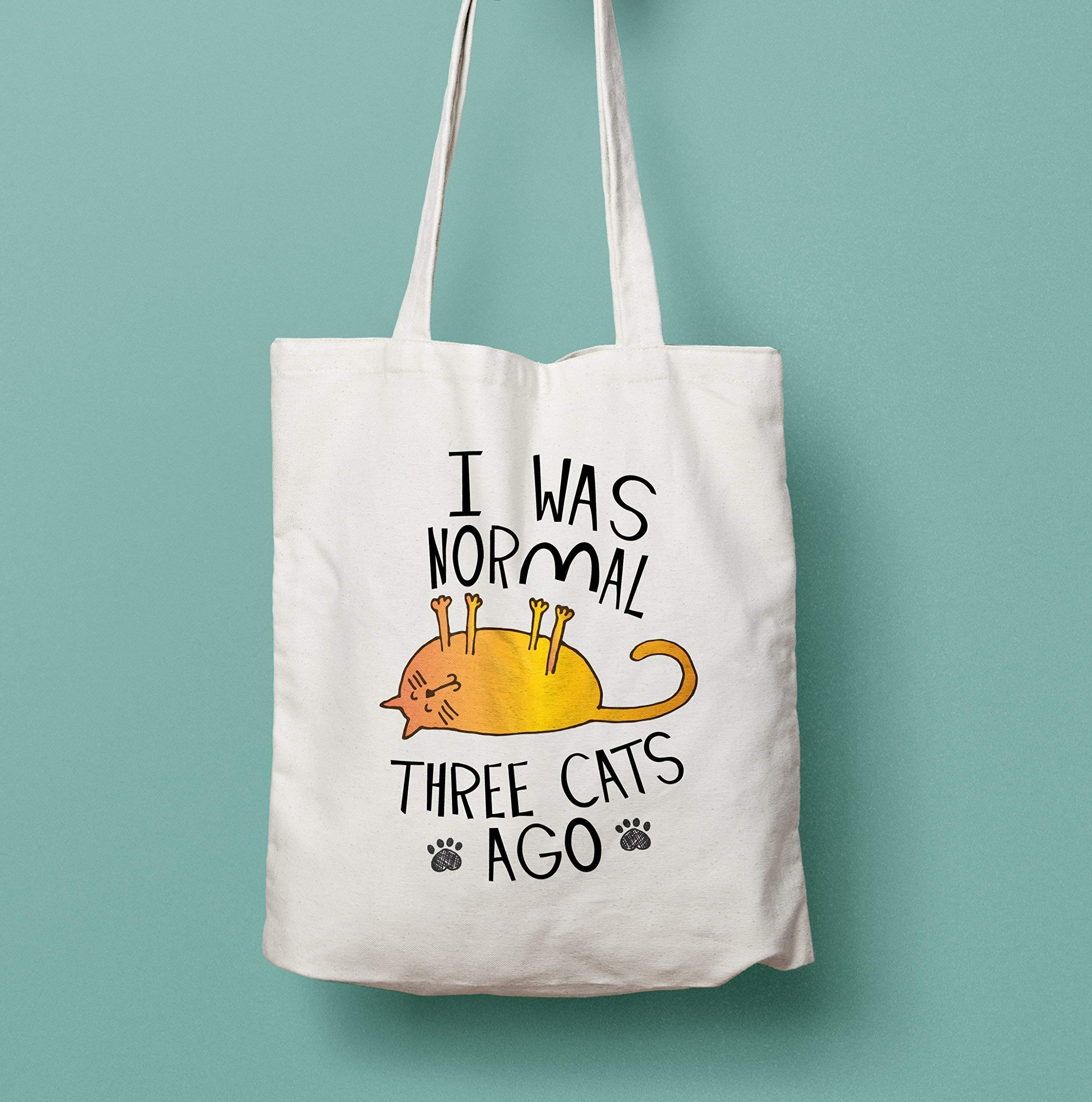 I Was Normal Three Cats Ago Shopping Tote Bag - handmade-bags