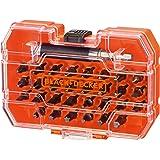 Black+Decker Bitset A7228 voor schroef- en montagewerkzaamheden (31-delig, 30x schroevendraaierbits 25mm, magnetische bithoud