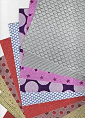 Abaj A4 Size Holographic Papers (Assorted Colours) - Pack of 10 Sheets