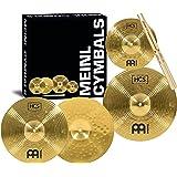 """Meinl Cymbals HCS1314+10S - Juego de platillos (1 hihat de 33 cm (13"""") 1 crash de 35,6 cm (14"""") 1 splash de 25,4 cm (10"""") + p"""