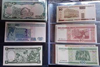 Arunrajsofia 30 Different Worldwide Foreign Currency in UNC Condition with Note Album