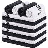 Utopia Towels - 12 Torchons de Cuisine - Serviettes de Cuisine 100% Coton - Lavable en Machine (38 x 64 cm - Noir)