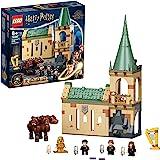 LEGO 76387 Harry Potter Zweinstein: Pluizige Ontmoeting Kasteel Speelgoed, Set met 3-Hoofdige Hond Figuur & 3 Poppetjes