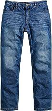 Spirit Motors Motorrad-Jeans Motorrad-Hose Herren Jeans mit Schutzfunktion, 5-Pocket-Jeans im Boot-Cut Style, Taschen für Knieprotektoren, abriebfeste Aramid-/Baumwolljeans 1.0, Blau