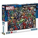 Clementoni 39411 Marvel Universe – 1000 Teile, Impossible Puzzle, Geschicklichkeitsspiel für die ganze Familie…
