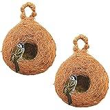 PetNest CR-4 SP Safest House Organic Bird Nest Purely Handmade Sparrow (Brown)-Set of 2